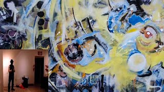 Victor Mavedzenge artwork process Transference 2 at Studio 23 in Alameda ,Ca 2019