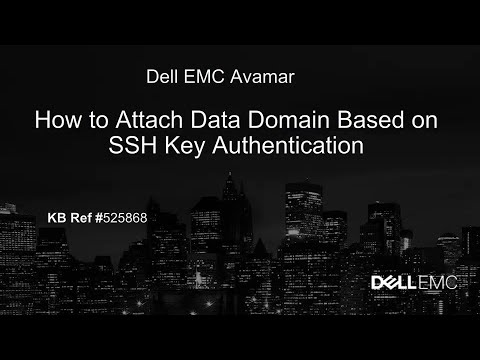 Avamar: How to Attach Data Domain Based on SSH Key Authentication