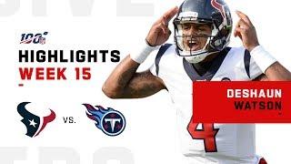 Deshaun Watson Highlights vs. Titans   NFL 2019