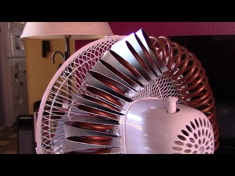 DIY AC Air Cooler! - Simple Fan Conversion! Make and add a Heat-Exchanger! (copper w/aluminum fins!)