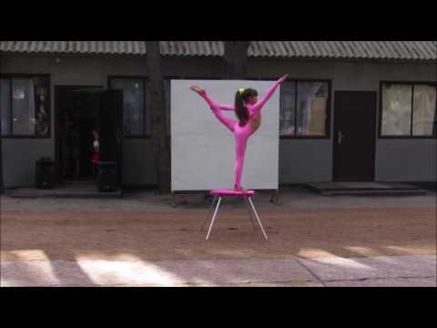 Nadine The Contortion Girl Training Outdoors