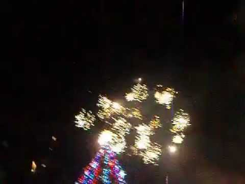 Fireworks in front of the New Year Tree in Lviv 4