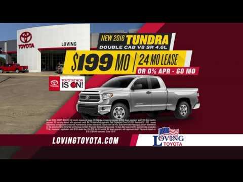 Loving Toyota | Toyotathon Truck Specials | Lufkin, TX