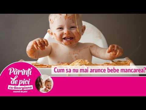 Cum sa nu mai arunce bebe mancarea?