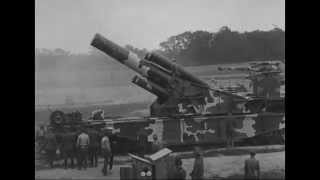 WW1 Railroad Gun Demonstration ca 1919 Silent