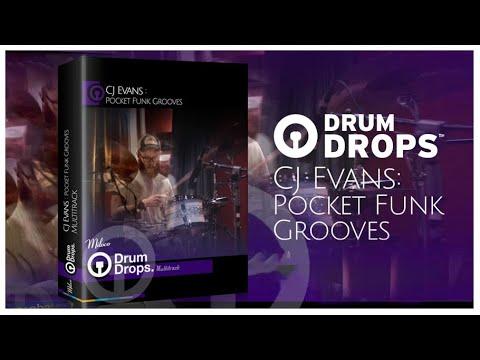 Drumdrops - Pocket Funk By CJ Evans | Acoustic Drum Multitrack Stems, Loops, Sounds, One Shots