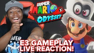 Super Mario Odyssey Gameplay - E3 2017 Trailer LIVE REACTION
