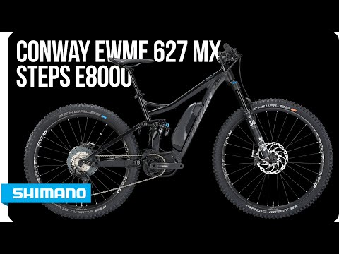 Check out the stealthy Conway eWME 627 MX with STEPS E8000 | SHIMANO