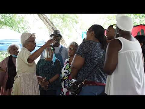 The Plantation Heirs singing Go Down Moses at Auburn's Juneteenth celebration in Sam Harris Park on Saturday, June 19, 2021.  Video by Maddie Edwards