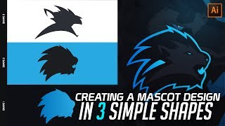 Illustrator Tutorial: Creating a Mascot Logo Design in 3 Shapes