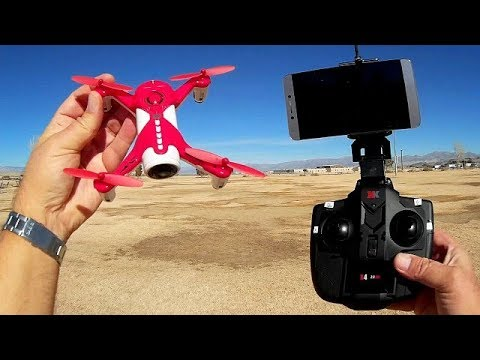 XK X150W Position Hold Camera Selfie Drone Flight Test Review