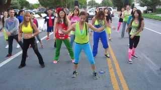 """Zumba Flashmob-""""Live it Up"""" by Pitbull ft. J-Lo part 1"""