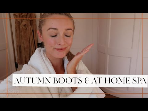 STYLING AUTUMN BOOTS & AT HOME SPA AFTERNOON! // Fashion Mumblr Vlogs