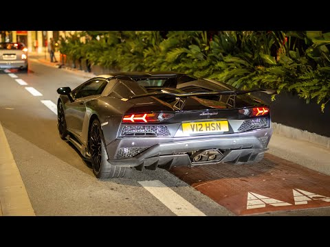 Nero Design Lamborghini Aventador S with Straight Pipes - Start Up and LOUd V12 Sounds !