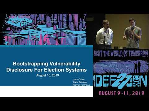 Bootstrapping Vulnerability Disclosure For Election Systems