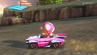 Wii U - Mario Kart 8 - (Wii) Moo Moo Meadows [Toadette FTW!!]