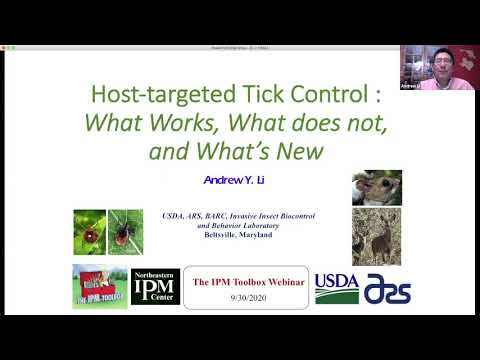 Tick IPM #6: Host-Targeted Tick Control – What Works, What Does Not, and What's New