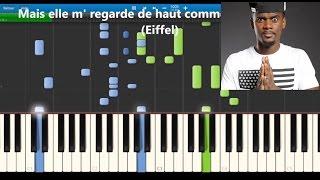 Black M - Je suis chez moi - Karaoke / Piano synthesia tutorial (lyrics & Sheet music)