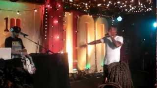 Nas Live 2012!! performing Cherry wine in 100 club London
