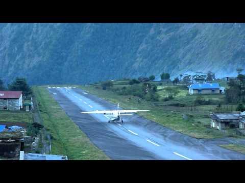 Lukla Aeroplane Take off, Nepal