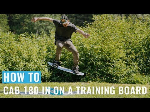 How To Cab 180 In On A Training Snowboard