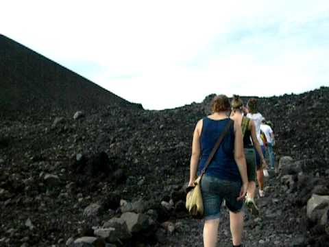 hiking on cerro negro