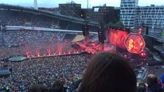 Coldplay - Clocks live Gothenburg, Ullevi - Sweden - A Head Full Of Dreams Tour