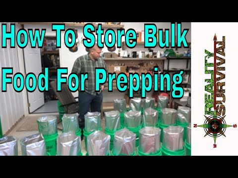 How To Store Bulk Food For Prepping