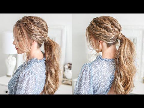 Double Lace Braid Ponytail   Missy Sue