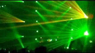 Transmission 2010 laser show - Sander Van Doorn plays Tiesto vs. Diplo - C'Mon
