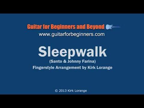 Sleepwalk - A Fingerstyle Guitar Lesson with Virtual Fretboard ...
