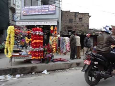 Market streets of Kathmandu before Tihar. Nepal.