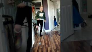 Dancing with a cast on my foot ( one footed dancing )