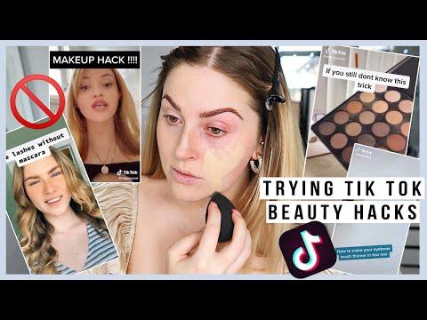 testing TIK TOK makeup hacks ? including the foundation one and i... ugh ?