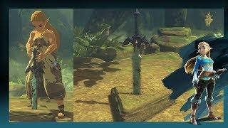 Zelda Retrieves The Rusted Master Sword