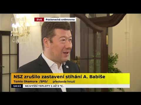 Tomio Okamura: Obnovení trestního stíhání Andreje Babiše v kauze Čapí hnízdo.