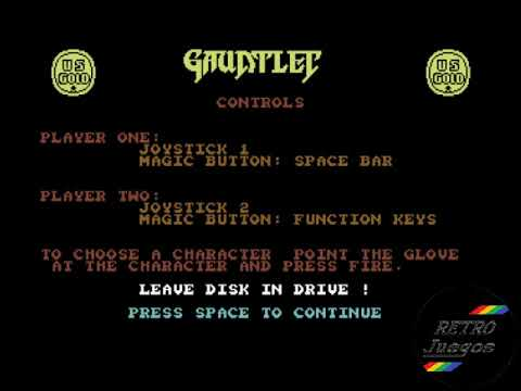 Gauntlet para Commodore 64 - Review de RETROJuegos de Fabio Didone #RETROJuegos byFabio