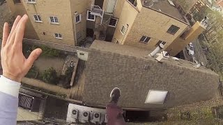 Watch This INSANE GoPro Roof Jump! | What's Trending Now