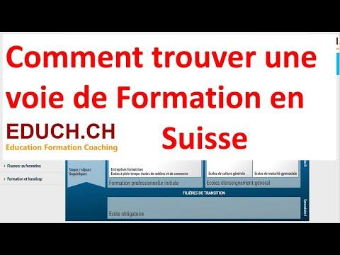Comment trouver une voie de formation en Suisse