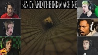 Gamers Reactions to Falling Down The Hole | Bendy and The Ink Machine
