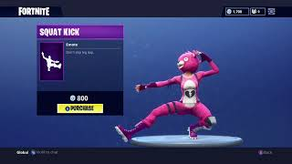 Cuddle Team Leader Does SQUAT KICK EMOTE (Fortnite Battle Royale)