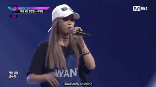 (ENG SUB) [Unpretty Rapstar 3 Ep. 8] Yuk Jidam - 한판의 노름 @Elimination Solo Battle