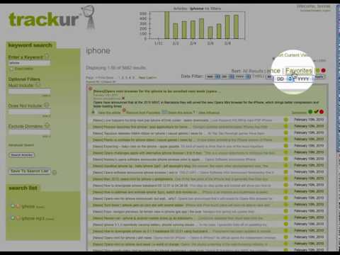 Bookmarking Your Favorite Results In Trackur