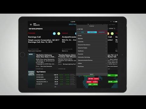 S&P Capital IQ App for iPad