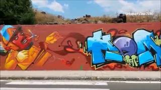 Urbanart Etna   PSIKO   MR PERA   ONE   ANC   HOMA   CATANIA GRAFFITI 2016