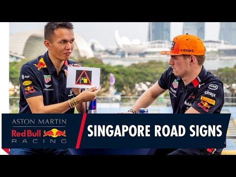 Max Verstappen and Alex Albon Test Their Singapore Street Smarts