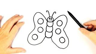 Cómo dibujar una mariposa para niños   Dibujo fácil de una mariposa paso a paso