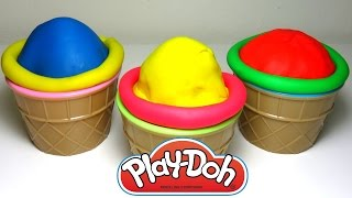 Play Doh Ice Cream Teletubbies In the Night Garden Makka Pakka Helados de Plastilina 2016
