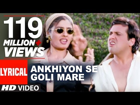 Download Lagu Ankhiyon Se Goli Mare Lyrical Video | Dulhe Raja | Sonu Nigam | Govinda, Raveena Tandon