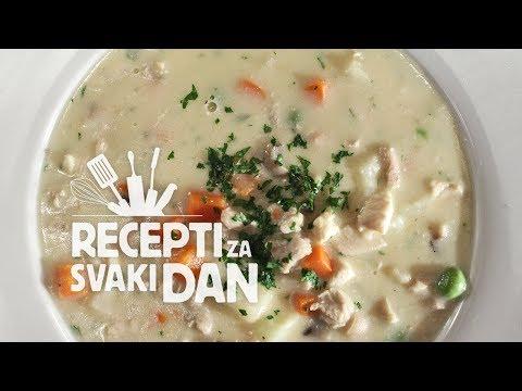 Pileća ragu juha - video recept